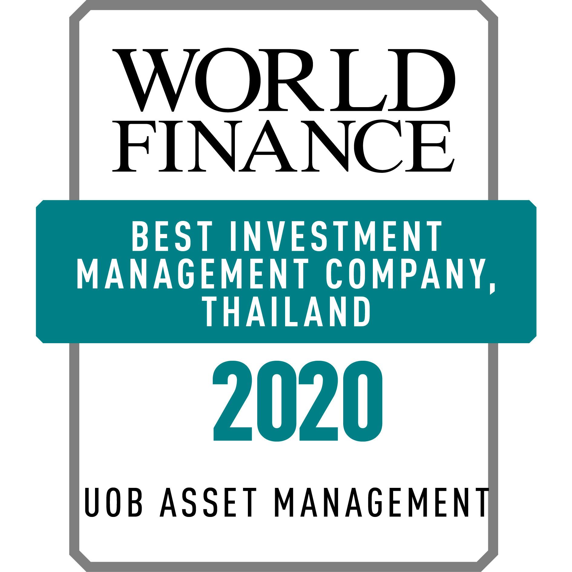 World Finance 2020 : Best Investment Management Company, Thailand